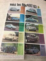 Renault 1963 R4 R4L Dauphine R8 Caravelle Estafette Gordini prospectus brochure