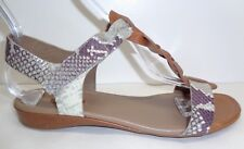 Ecco Size 7 to 7.5 BOUILLON KNOT II Cognac Sage Leather Sandals New Womens Shoes