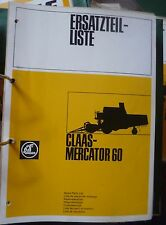 Claas Mähdrescher Mercator 60 Ersatzteilkatalog