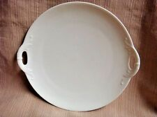 RARE Elegant White CAKE PLATE w/Cut-Out Handles by HAVILAND