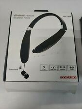 Foldable Stereo Neckband Headset Wireless Retractable Earphones Earbuds With Mic
