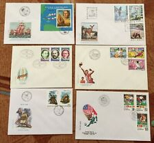 Lot 6 FDC Romania Columbus Olympic Games Windmills Football World Cup Fauna