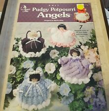 2000 ANNIE'S ATTIC, KNIT PUDGY POTPOURRI ANGELS BY MICKIE AKINS - 7 DESIGNS