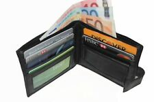 MENS LUXURY SOFT QUALITY LEATHER WALLET, CREDIT CARD HOLDER, PURSE BLACK 108