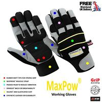 Power Tools Anti Vibration Impact Mechanics Safety Builders Working Work GLOVES