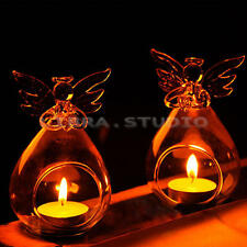 Angel Candlestick Glass Hanging Candle Tea Light Holder Party Bar Home Decor UK