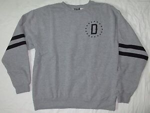DFYNT STRIPED SLEEVE CREWNECK SWEAT SHIRT GREY XL, 2XL