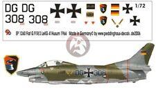 Peddinghaus 1/72 German Fiat G.91R/3 Markings LeKG 41 Husum Germany 1966 1260