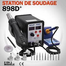 2-en-1 Station Soudage Dessoudage Fer à Souder Pistolet à Air Chaud Accessoires
