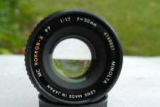 EX-Minolta 50mm/f1:1.7 MC-PF-Rokkor lens for Minolta XK camera