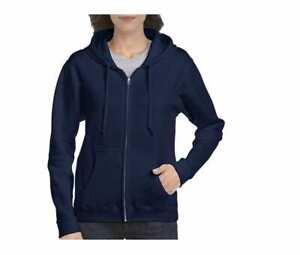 Gildan GN961 - Heavy Blend Ladies' Full Zip Hooded Sweatshirt Navy Small
