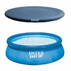 Intex Easy Set Pool, Pump & Filter and Intex Above Ground Rope Tie Pool Cover