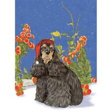 Pipsqueak Productions C969 Holiday Boxed Cards- Cocker Spaniel American Black.
