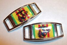 Set Of 2 U.S. Marine Corps VIETNAM VETERAN Shoelace Charms For Paracord Projects