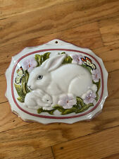 Le Cordon Bleu The Franklin Mint Rabbit Bunny Jello Mold Wall Hanging, 1986