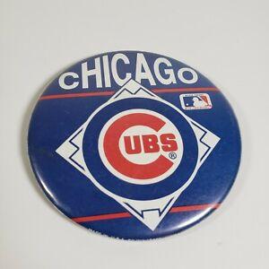 Vintage Chicago Cubs Wincraft Button Pinback MLB Cubbies Blue