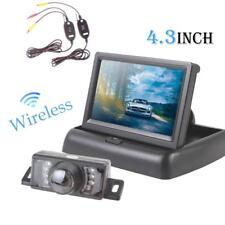 """Car Backup Camera Rear View Night Vision Cam & Wireless 4.3"""" TFT LCD Monitor"""