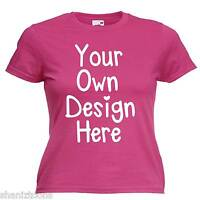 Ladies Womens Pink T Shirt Personalised Text Custom Design Hen Night Party
