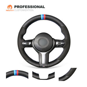 Design Suede Leather Steering Wheel Cover for BMW F22 F30 F32 F07 F12 M2 M3 M4 M
