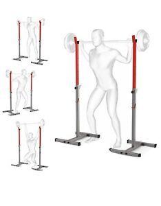 Gym Squat Stand Adjustable Barbell Rack Weight Bench Support Stand By Ksport