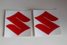 Sticker Suzuki Emblem rotes S Logo Aufkleber Sticks Aufkleberset 2 Stück