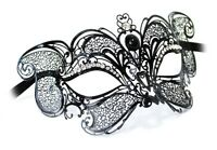VENETIAN Masquerade Mask Gatto New Lux metal handcrafted in Venice Italy