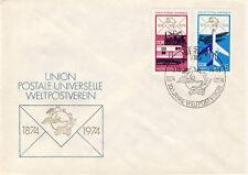 Ersttagsbrief DDR MiNr. 1985, 1986, 100 Jahre Weltpostverein (UPU)