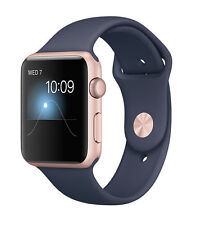 Apple Watch Series 1 42mm Rose Gold Aluminum Case Midnight Blue Sport Band