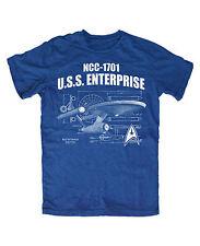 NCC-1701 M2 T-Shirt BLAU Star,Kult,Fun,Trek,Spock,Movie,Tv,Kirk,Picard,Fan