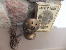Vintage Schranz & Bieber Co Little Mike For Home Broadcasting - Microphone Mic