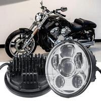 "5.75"" 5 3/4 Chrome LED Headlight For Honda Shadow Aero Phantom VLX VF VT 600 750"