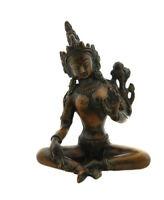 Statua Di Verde Tara IN Bronzo 1kg Nepal 4709