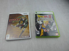 Jeu pour console Wii, Link's Crossbow Training + Xbox 360, Dragon Ball Z