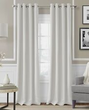 "2 PANELS SILVER GROMMET THERMAL LINED BLACKOUT WINDOW CURTAIN DRAPE 55"" X 84""K60"