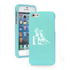 For iPhone 4 4S 5 5S 5c 6 6s Plus Rubber Hard Case Female Barrel Racing Cowgirl