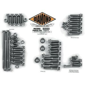 Diamond Engineering - PB607S - 12-Point Polished Stainless Engine Kit Harley-Dav