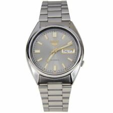Seiko 5 Automatic Grey Dial Silver Steel 37mm SNXS75K1 Men's Watch RRP £169