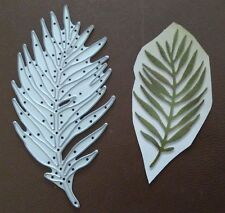 LEAF PALM TREE Sizzix Thinlits Die Cutter & Embosser fits Big Shot Cuttlebug