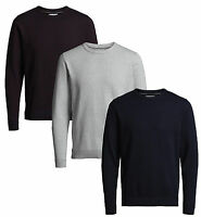 JACK & JONES New Men's Twisting Knit Regular Fit Cotton Jumper Crew Neck Sweater