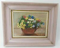 Peinture ancienne bouquet de fleurs signée