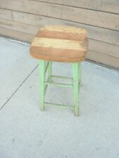 """wooden stool 25-1/2"""" tall painting project porch plant stand decor"""