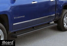 "5"" Black iBoard Running Boards Fit 07-17 Chevy Silverado/GMC Sierra Crew Cab"