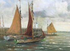 LUC KAISIN (1900-1963): SAILING BOATS AT THE PORT - BELGIAN LISTED ARTIST