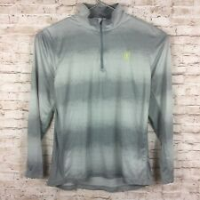 Pga Tour Mens Large Gray 1/4 Zip Golf Pullover - Front Logo