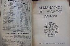 ALMANACCO DEI VISACCI,Antico libro toscana 1938 A. XVI,illustrato -Valsecchi