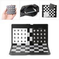 Pocket Chess Board Magnetic Folding Game Plane Travel Checker Foldable Traveler