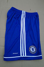 Nuevo Niños Azul Adidas Chelsea Football Club shorts/bottoms Talla 14 Años