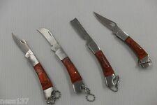 1 Petit Couteau Pliant de Poche Lame Acier 3,5 cm Manche Bois 5 cm Style Canif