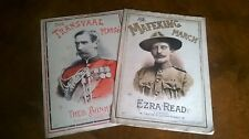 RARE Antique 1900 Relief of Mafeking Sheet Music Second Boer War Military March