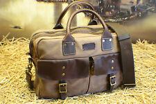 COLE HAAN Vintage Canvas Leather Scholar Briefcase Travel Messenger Bag Mens